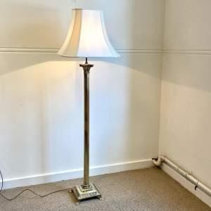 Vintage Corinthian Column Brass Standard Lamp