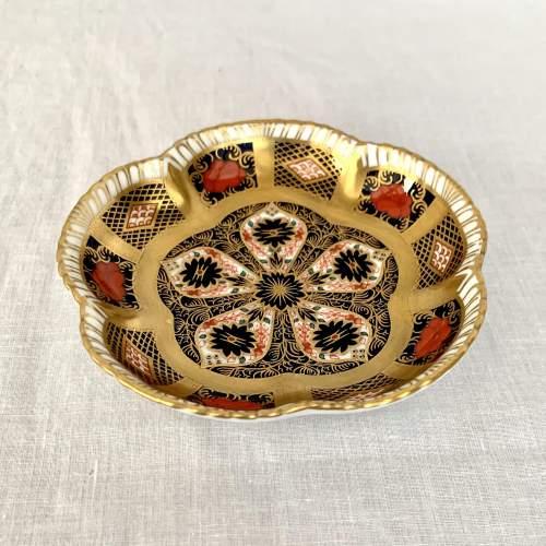 Royal Crown Derby Imari Five Petal Dish image-1