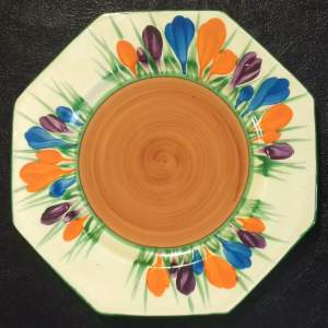 Clarice Cliff Bizarre Autumn Crocus Octagonal Side Plate
