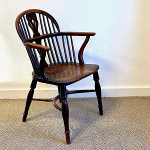 Georgian Period Windsor Yew and Elm Chair