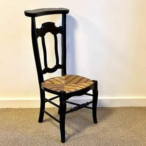 Vintage French Prie Dieu Prayer Chair