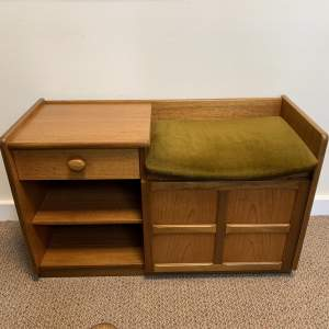 Teak Nathan Telephone Cabinet and Seat
