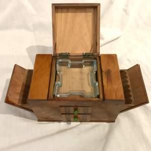 Art Deco  Styled Cigarette Dispenser Matchbox Holder and Ashtray