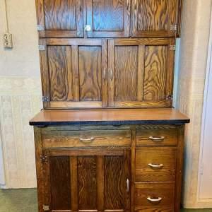Vintage Oak Kitchen Cabinet