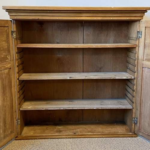 Victorian Large Pine Wall Cupboard image-3