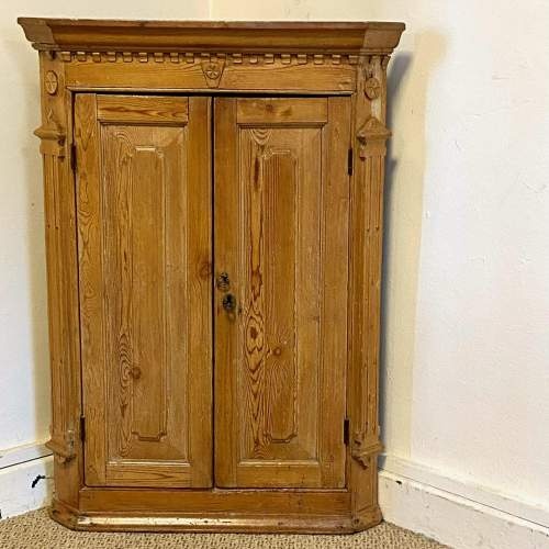 Small Pine Hanging Corner Cupboard image-2