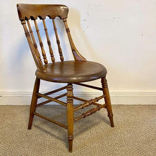 Spindle Back Office Chair with Penny Seat image-1