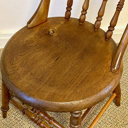 Spindle Back Office Chair with Penny Seat image-4