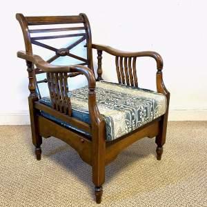 Oak Campaign Recliner Chair