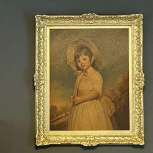 Gilt Framed Print of a Young Girl