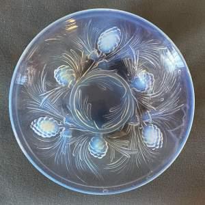 Jobling Fir Cone Opalescent Glass Bowl