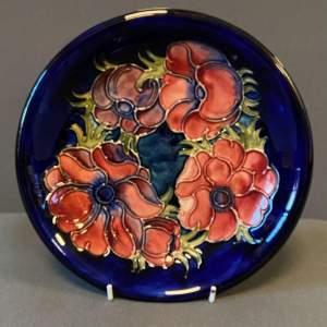 Moorcroft Blue Anemone Plate