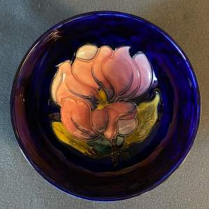 Moorcroft Magnolia Pattern Footed Bowl