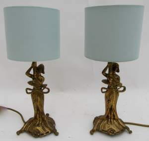 Pretty Pair of Christopher Wray Lamps