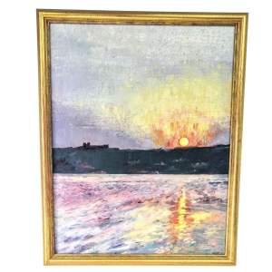 Oil on Canvas - Sunset in Malta