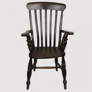 Victorian Elm and Beech Grandad Chair