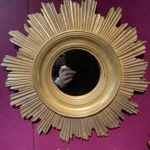 French or Belgian Sunburst Mirror - Stunning Piece