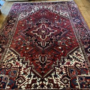 Stunning Hand Knotted Persian Rug Heriz A Wonderful Example