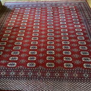 Stunning Hand Knotted Bokhara Rug In Turkoman Design Superb