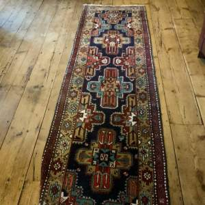 Superb Quality Old Hand Knotted Persian Runner Serab Medallion
