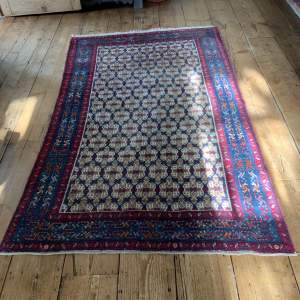 Superb Quality Hand Knotted Persian Rug Hamadan Biscuit Colours