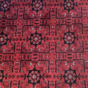 Stunning Afghan Hand Knotted Rug Repeating Medallion Design