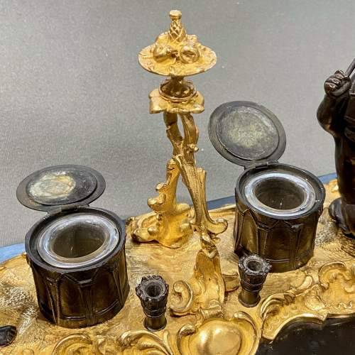 Quality 19th Century Bronze Desk Stand with Cherubs image-4