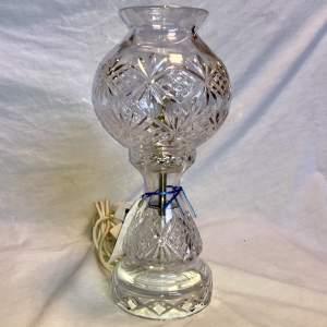 A Cut Glass Electric Table Lamp Circa 1920s