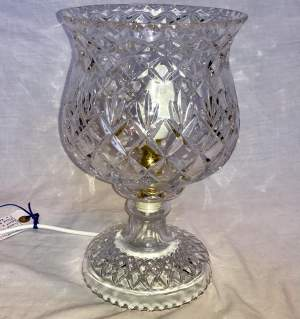 A 1920s Cut Glass Electric Table Lamp