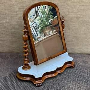 Victorian Mahogany Serpentine Based Toilet Mirror