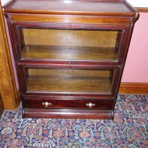 Mahogany and Beech Two Section Stacking Bookcase