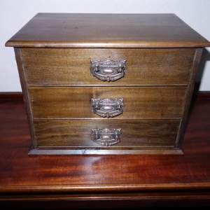 Edwardian Mahogany Miniature Chest of Three Drawers
