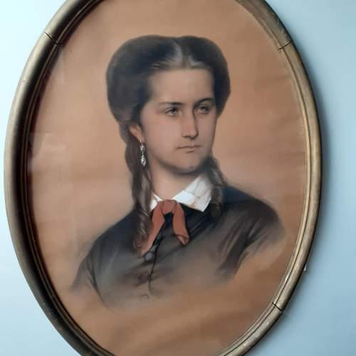 Eugène Devéria Signed and Dated Pastel Painting image-2
