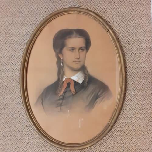 Eugène Devéria Signed and Dated Pastel Painting image-1