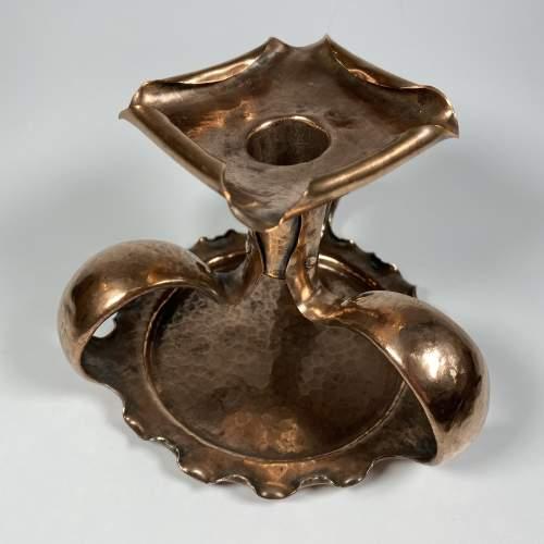 Superb Copper Candlestick - Art Nouveau Period image-2