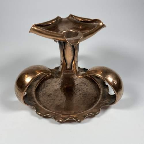 Superb Copper Candlestick - Art Nouveau Period image-3