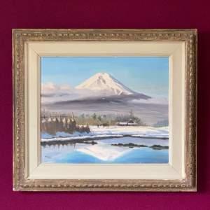 Hayashi Nobuo Oil on Canvas Mount Fuji