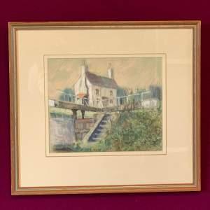 Terrence Whittaker Pastel of Havercourt Toplock