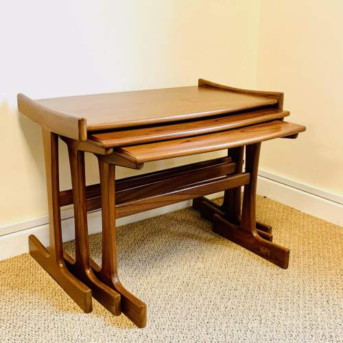 1970s G-Plan Nest of Three Teak Tables image-1