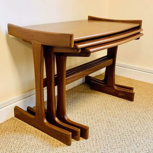 1970s G-Plan Nest of Three Teak Tables image-2