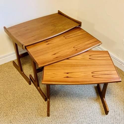 1970s G-Plan Nest of Three Teak Tables image-4