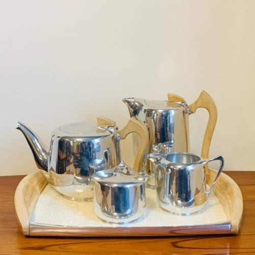 1960s Five Piece Picquot Ware Tea Service image-1