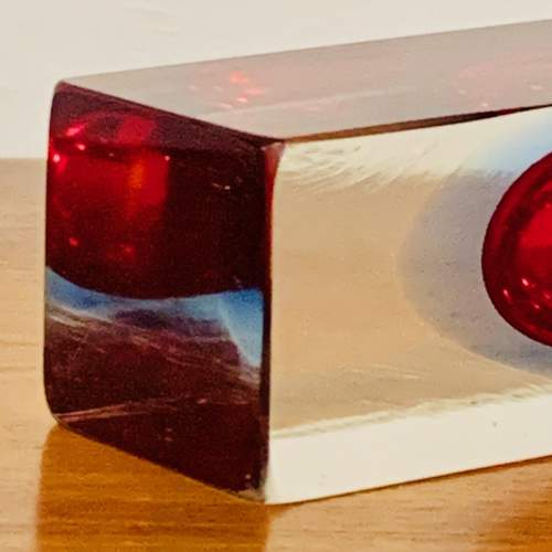 1960s Sommerso Geometric Murano Glass Vase image-4
