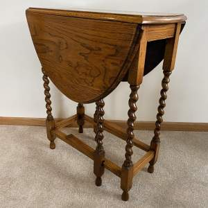 Oak Gate Leg Side Table -  Occasional Table - Edwardian