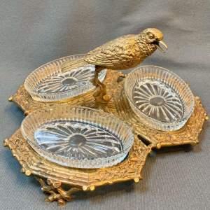 Gilt Bronze and Glass Sweetmeat Dish
