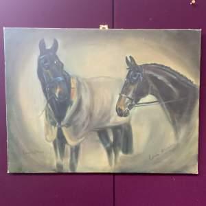 Wonderful Signed Oil On Canvas. Lucky Strike By Carolyn Alexander