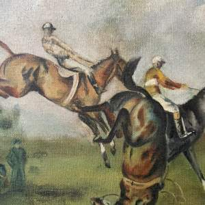 Oil On Canvas Horse Racing Signed By WGC