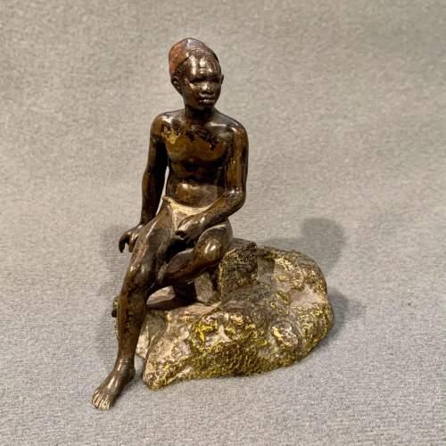 Franz Bergman Bronze Blackamoor Figure image-1