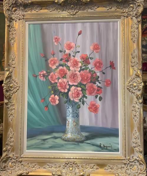 Stunning Belgian Oil On Canvas Still Life In Ornate Gilt Frame image-2