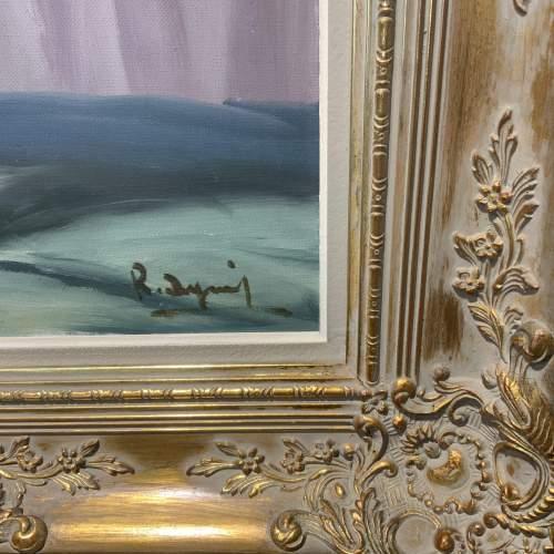 Stunning Belgian Oil On Canvas Still Life In Ornate Gilt Frame image-3